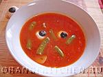 Вегетарианские супы: томатный суп с фасолью