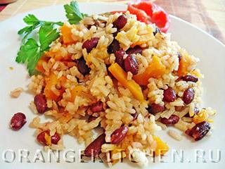 Вегетарианские рецепты с фото: постный плов с тыквой