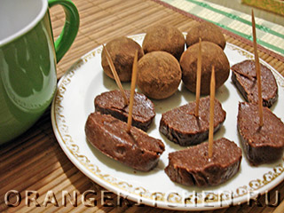 Вегетарианские рецепты с фото: шоколадная колбаска из печенья