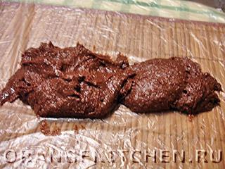 Шоколадная колбаска из печенья: Фото 5