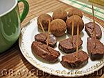 Вегетарианские десерты: шоколадная колбаска