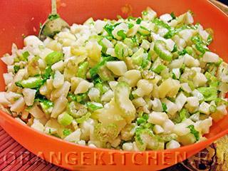 Вегетарианский картофельный салат с сельдереем: Фото 5
