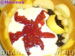 Десерт из яблок «День и ночь»