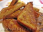 Вегетарианский рецепт французских тостов без яиц