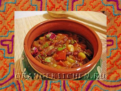 Вегетарианское блюдо чили с фасолью: Фото 7