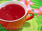 Вегетарианские напитки: кисель из клюквы