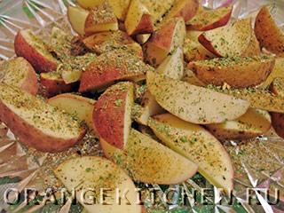 Вегетарианская жареная рыба с картошкой: Фото 1