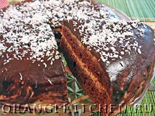 Вегетарианские рецепты с фото: шоколадный торт без яиц