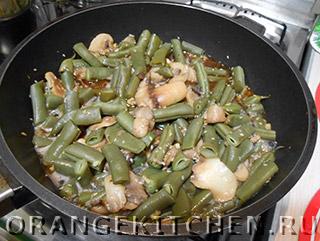 Блюдо из стручковой фасоли с грибами: Фото 4