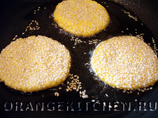 Постные блинчики из рисовой муки с кунжутом: Фото 6