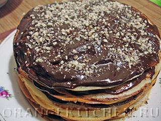 Шоколадный блинный торт: Фото 11