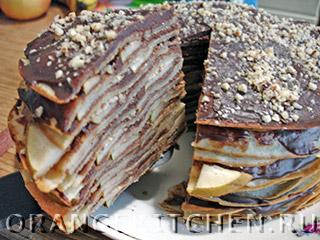 Шоколадный блинный торт: Фото 12