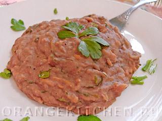 Вегетарианские рецепты с фото: блюдо из красной фасоли
