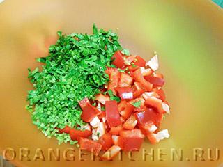 Вегетарианский рисовый салат с овощами: Фото 5
