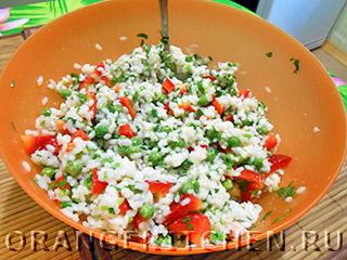 Вегетарианский рисовый салат с овощами: Фото 6