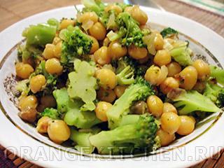 Вегетарианские рецепты с фото: нут с брокколи и лимоном