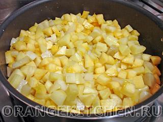 Картофель с кабачками и маслинами: Фото 3