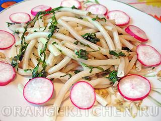 Вегетарианские рецепты с фото: макароны со шпинатом