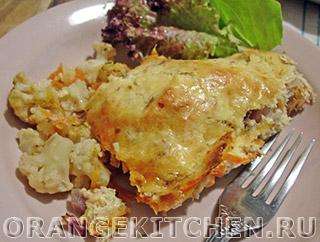 Вегетарианские рецепты с фото: цветная капуста запеченная с сыром