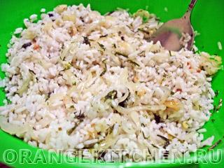 Закрытый пирог с рисом на кефире: Фото 3