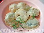 Вегетарианский рецепт вареников с зеленью