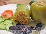 Вегетарианские блюда из круп: фаршированные перцы
