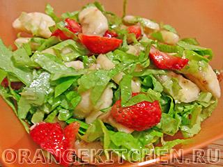 Вегетарианские рецепты с фото: салат из клубники