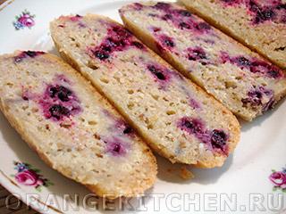 Вегетарианские рецепты с фото: постный кекс с ягодами