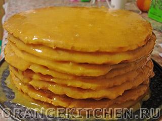 Постный торт с кремом: Фото 11