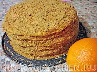 Постный торт с кремом: Фото 12