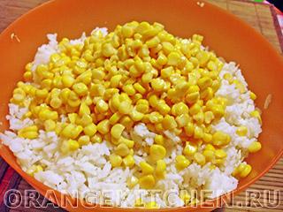 Вегетарианский рисовый салат с кукурузой: Фото 3