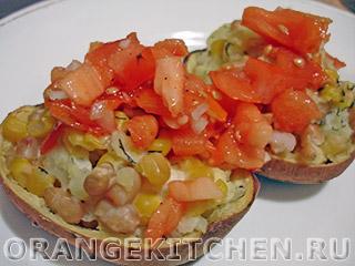 Вегетарианские рецепты с фото: запеченный картофель