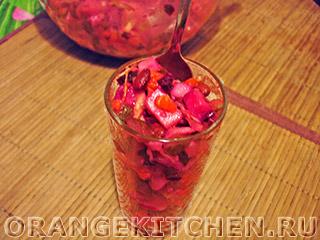 Вегетарианские рецепты с фото: винегрет с фасолью