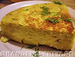 Вегетарианские овощные блюда: испанский картофельный омлет без яиц