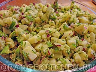 Постный картофельный салат с авокадо: Фото 6