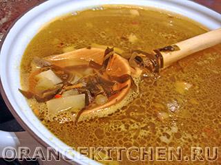 Быстрый вегетарианский суп с морской капустой: Фото 5