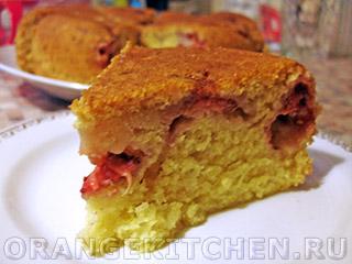 Вегетарианские рецепты с фото: клубничный кекс без яиц