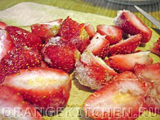 Вегетарианский клубничный кекс без яиц: Фото 3