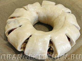 Пасхальное кольцо с сухофруктами: Фото 8