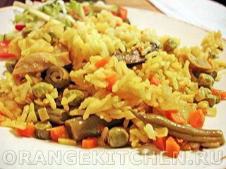 Вегетарианские рецепты с фото: паэлья овощная с грибами