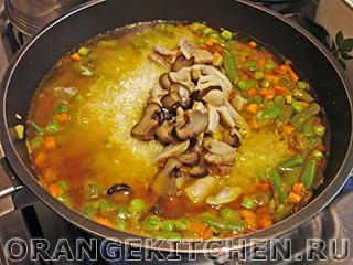 Паэлья овощная с грибами: Фото 5