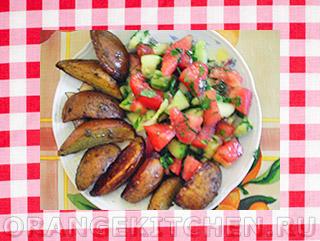 Вегетарианские рецепты с фото: картофель по-деревенски