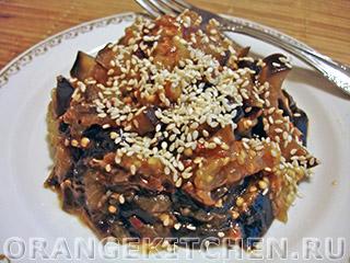 Вегетарианские рецепты с фото: баклажаны с чесноком