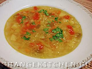 Вегетарианские рецепты с фото: овощной суп с рисом