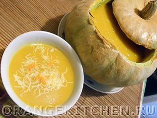 Вегетарианские рецепты с фото: постный тыквенный суп-пюре
