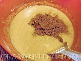 Постный шоколадный манник: Фото 3