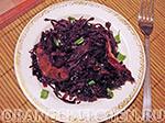 Вегетарианский рецепт из краснокочанной капусты
