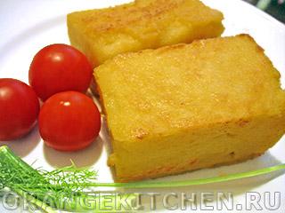 Вегетарианские рецепты с фото: жареная полента из кукурузной муки