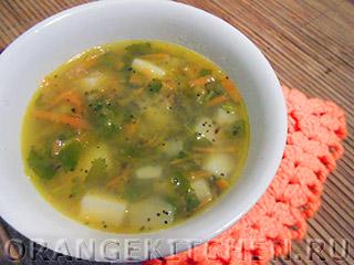 Вегетарианские рецепты с фото: постный овощной суп с маком