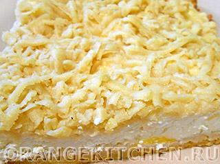 Вегетарианские рецепты с фото: тертый пирог с творогом